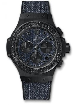Big Bang Jeans Ceramic black Diamonds 41 MM