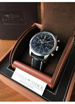 Breitling Transocean Chronograph Unitime Pilot Black