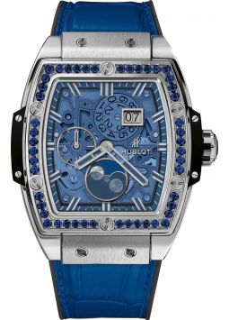 Hublot Spirit Of Big Bang Moonphase Titanium Dark Blue 647.NX.5171.LR.1201