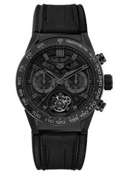 Carrera Heuer-02T Tourbillon Black Phantom