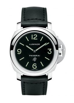 Panerai Luminor Base Black Logo Dial Acciaio PAM1000