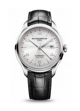 Baume & Mercier Clifton Dual Time Silver Dial MOA10112