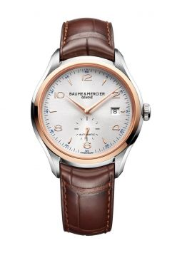 Baume & Mercier Clifton Automatic Silver Dial Brown M0A10139