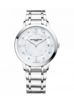 Baume & Mercier Classima Mother of Pearl Diamond Dial Stainless Steel M0A10225