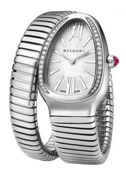Bvlgari Serpenti Diamond Silver Dial SP35C6SDS.1T