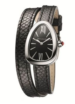 Bvlgari Serpenti Black Dial Ladies Double Wrap 102781