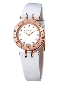 Bvlgari B.Zero1 White Lacquered Dial White Leather Strap 102176