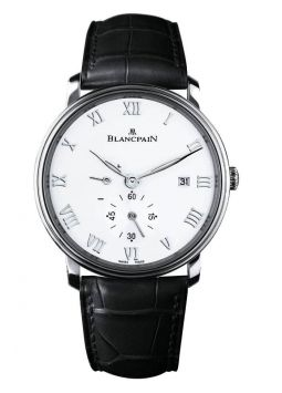 Blancpain Villeret Automatic White Dial Stainless Steel Black Leather 6606-1127-55B