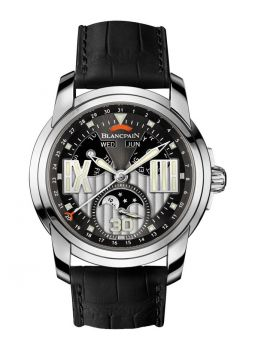 Blancpain L-Evolution Grey Dial Black Leather 8866-1134-53B