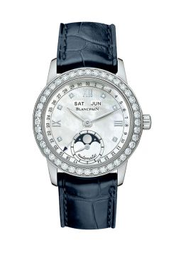 Blancpain Leman Ladies Moonphase & Complete Calendar 34mm 2360-1991A-55A