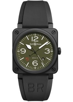 Bell & Ross Military Type Automatic Olive Dial BR0392-MIL-CE