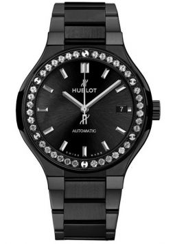 Hublot Classic Fusion Black Magic Bracelet Diamonds 568.CM.1470.CM.1204