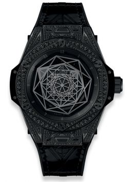 Hublot Big Bang Sang Bleu All Black Pavé 465.CS.1114.VR.1700.MXM18