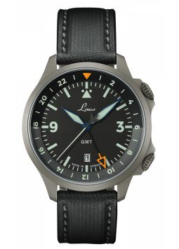 Laco Laco Frankfurt GMT Schwarz 862120