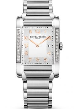 Baume & Mercier Hampton Rectangular Diamonds Ladies M0A10023
