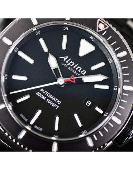 Alpina SEASTRONG DIVER 300 STEEL BLACK AL-525LBG4V6