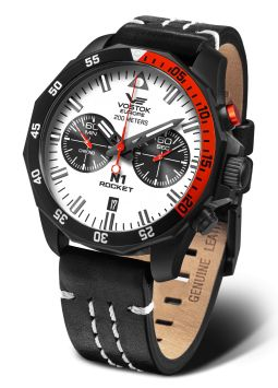 Vostok Europe N1 Rocket Chrono Black/Red 6S21-225C620