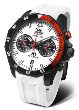 Vostok Europe N1 Rocket Chrono Black/Red Silicon 6S21-225C620