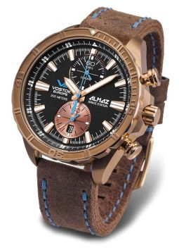 Vostok Europe Almaz Space Station Bronze Chrono 6S11/320O266